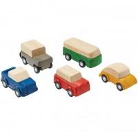 Holzautos zur Spielstraße für Kinder ab 3 Jahren - 6 cm lang
