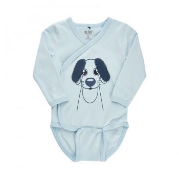 Wickelbody Hund hellblau