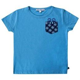 Shirt blau kleine Brusttasche