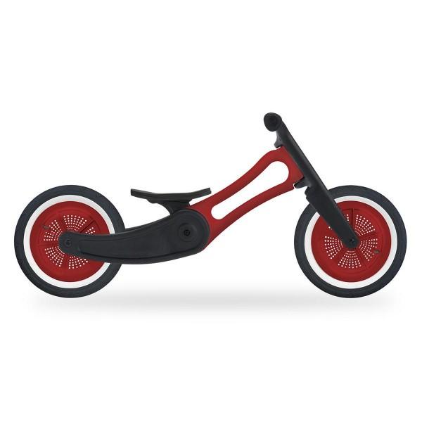 2in1 Laufrad mitwachsend leicht Recycelt ab 18 Monaten rot