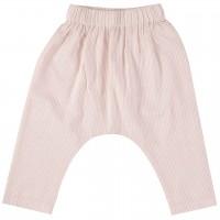 Leichte Hose aus Krepp-Gewebe in rosa