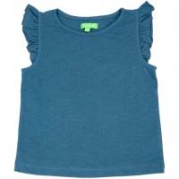 Bio T-Shirt leicht Schmetterlingsärmel petrol