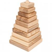 Steckturm aus Eschenholz - Quadrate 18,5 cm