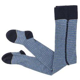 Babystrumpfhose breiter Bund grau blau gestreift