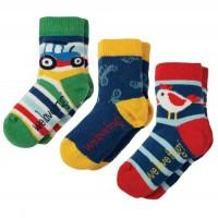 Baby Socken 3er Pack Traktor