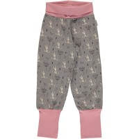 Dickere Sweat Krabbelhose Hase rosa