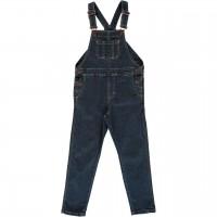 Kinder Latz-Jeans slim fit medium dark denim
