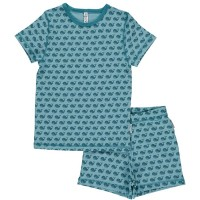 Sommer Schlafanzug blaue Wale