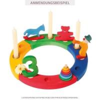 Vorschau: Grimms Zahlenstecker 0 für Geburtstagsring