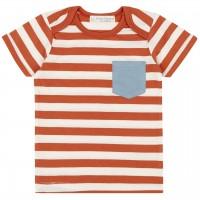 Babyshirt kurzarm orange Streifen