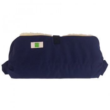 Lammfell Handwärmer für den Kinderwagen marine