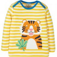 Langarmshirt Tiger Streifen in gelb
