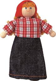 Biegepuppe Bäuerin für Puppenhaus