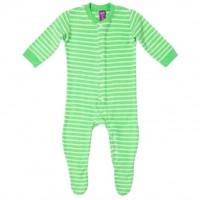 Vorschau: Warmer Schlafanzug Strampler aus Frottee mit Füßen grün