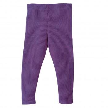 Woll Leggings lila warm und mitwachsend