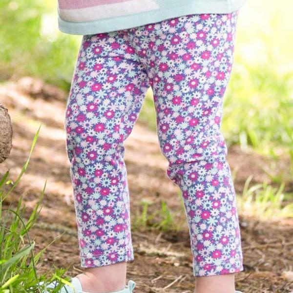 Blumen Bio Leggings pink