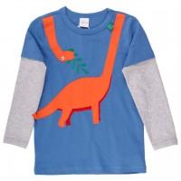 leichtes Langarmshirt 2-in-1-Look Dino