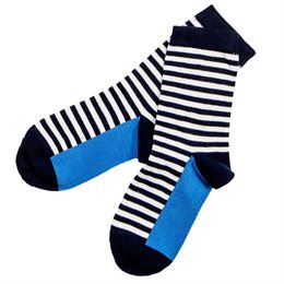 Kinder Socken blau geringelt