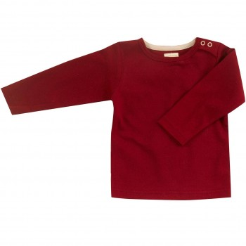 Edles Interlock uni Shirt in rot