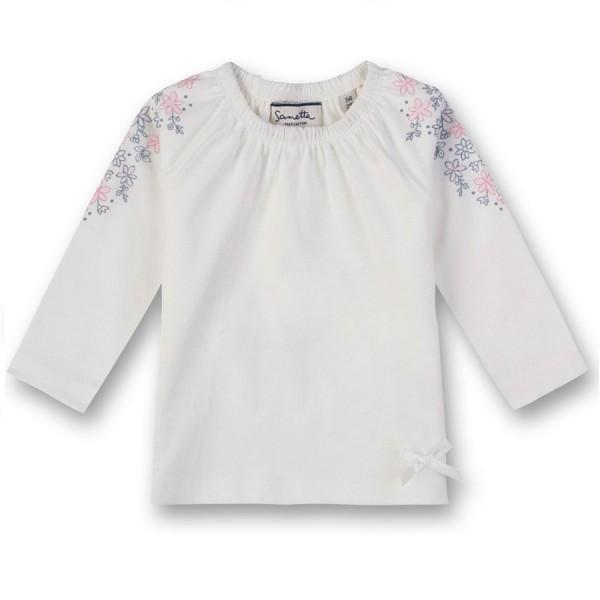 Langarmshirt Tunikaschnitt mit Blümchen
