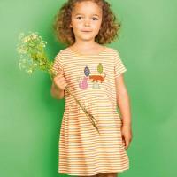 Leichtes Sommer Kleid Leoparden gelb