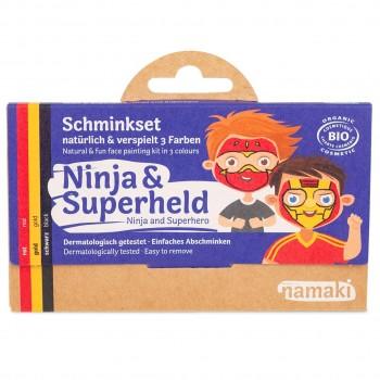 Bio Kinderschminke Ninja & Superheld 3 Farben