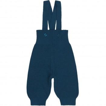 Strick  Trägerhose  saphir-blau