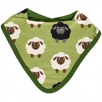 Leichtes Dreiecktuch Schaf grün