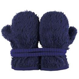 Teddy Plüsch Handschuhe Biobaumwolle marine