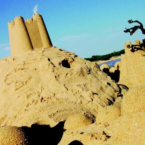 Sandform Burgtor mit Turm - pink