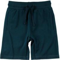 Leichte Shorts knielang uni in dunkelblau