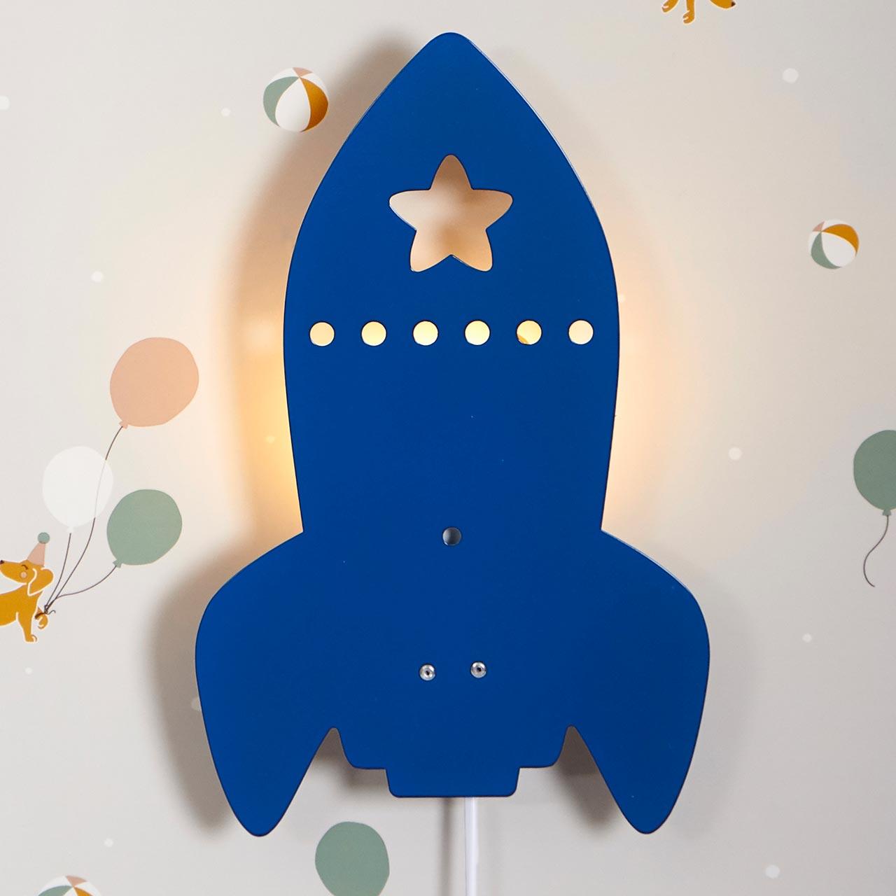 Kinder Wandleuchte 12 x 12 cm – Rakete