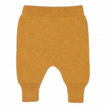 Baby Strickhose Wolle senf