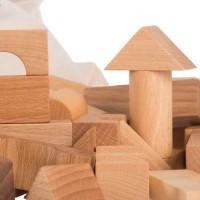 Vorschau: 100 natürliche Bauklötze im Sack
