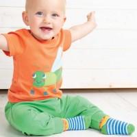 Jogginghose Kinder grün Bündchen