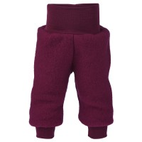 Woll Fleece Hose Softbund beere