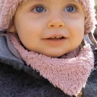Kuschliges Baby Wendetuch - rosa