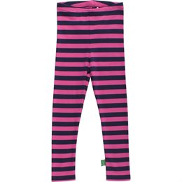 Bio Kinder Leggings weich navy pink