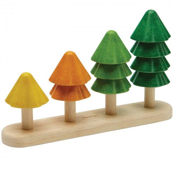 Holz Sortierspiel Bäume – ab 18 Monaten