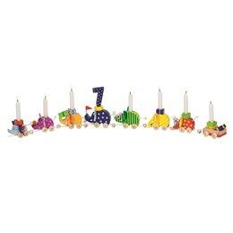 Geburtstagszug mit 8 fröhlich bunten Elefanten