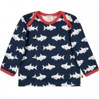 Leichtes Shirt langarm Haie in dunkelblau