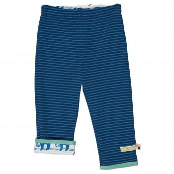 Weiche Wendehose Ringel dunkelblau Faultiere blau