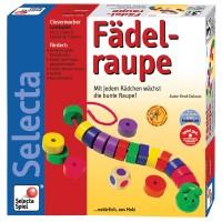Vorschau: Fädelspiel - Fädelraupe mit Holzsteinen