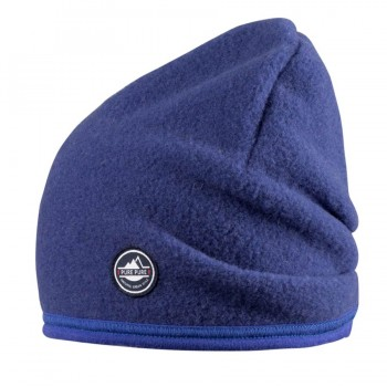 Fleece Kindermütze in blau