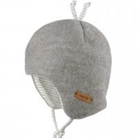 Fleece Wintermütze beliebter Klassiker grau