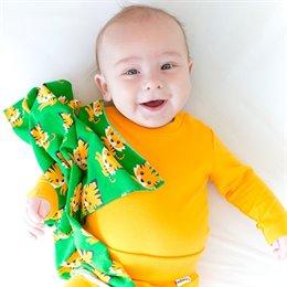 Softer langarm Babybody neutral orange