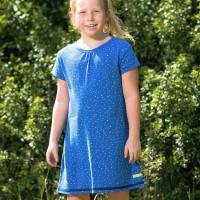Sommerkleid Waffelstruktur Herzchen blau