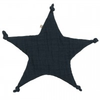 Schmusetuch Sternform dunkelblau
