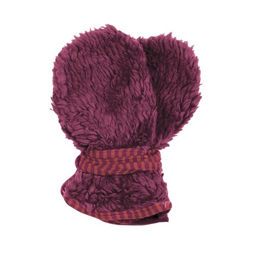 Bio Teddyplüsch Baby Handschuhe - fuchsia