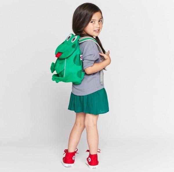 Ergonomischer Kindergarten Rucksack 1-3 Jahre Frosch Finn